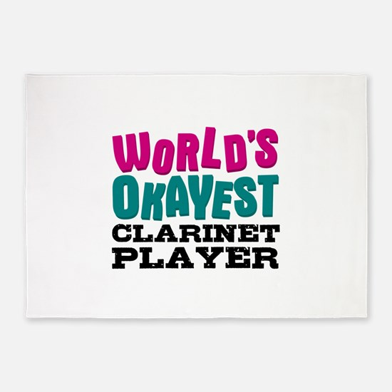 World's Okayest Clarinet Player 5'x7'Area Rug