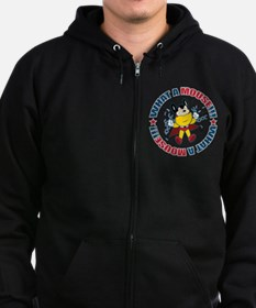 What A Mighty Mouse Zip Hoodie