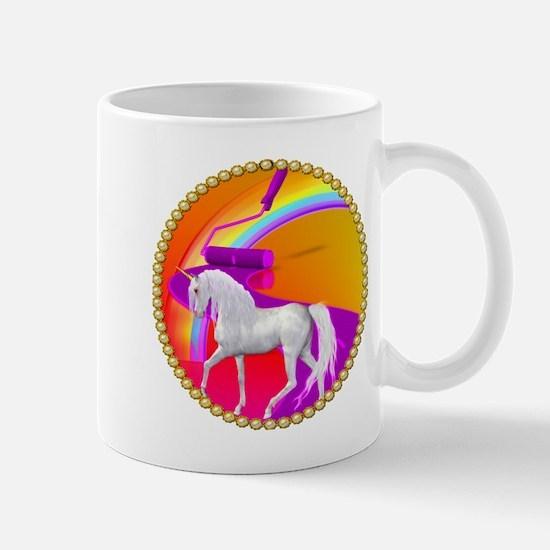 Painted Unicorn Road Mug