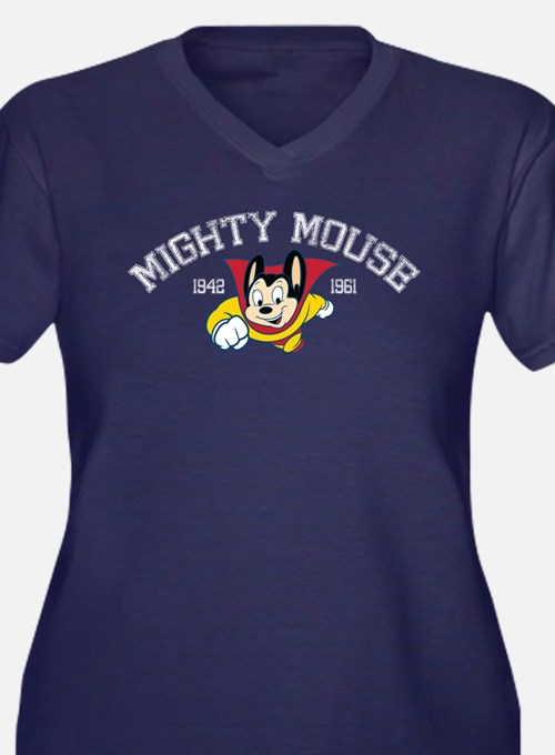 Retro Mighty Mouse Plus Size T-Shirt