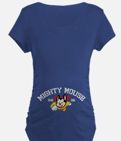 Retro Mighty Mouse Maternity T-Shirt