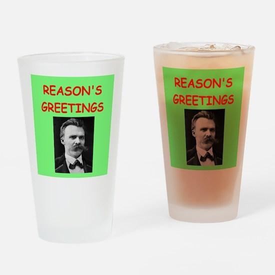 friedrich nietzsche Drinking Glass