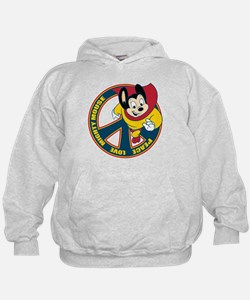 Peace Sign Mighty Mouse Hoodie