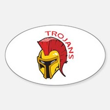 TROJANS MASCOT Decal