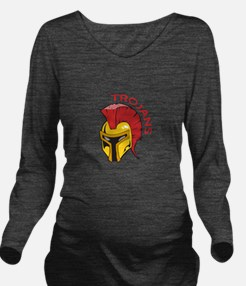 TROJANS MASCOT Long Sleeve Maternity T-Shirt