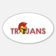 TROJANS FULL BACK Decal