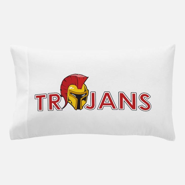 TROJANS FULL BACK Pillow Case