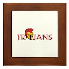 TROJANS FULL BACK Framed Tile