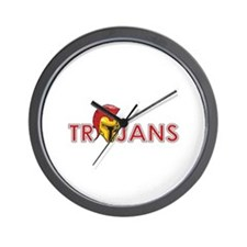 TROJANS FULL BACK Wall Clock