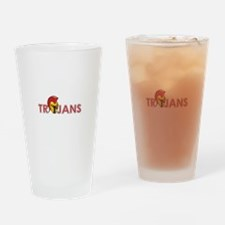 TROJANS FULL BACK Drinking Glass