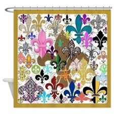 Fluer de lis shower curtains fluer de lis fabric shower curtain