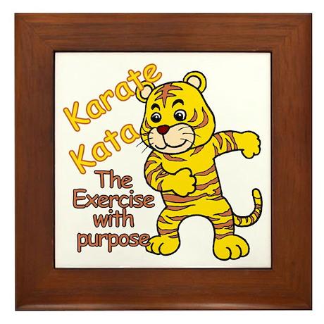 Tiger Kata Framed Tile
