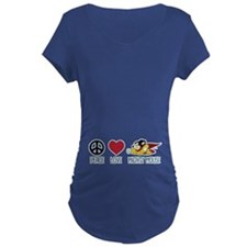 Peace Love Mighty Mouse Maternity T-Shirt