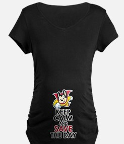 Keep Calm Mighty Mouse Maternity T-Shirt