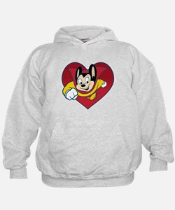 Mighty Mouse Heart Hoodie