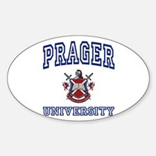 PRAGER University Oval Decal