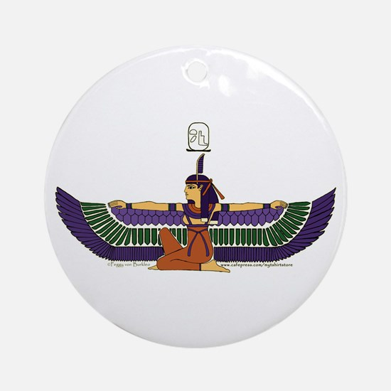 Isis Hieroglyph Ornament (Round)