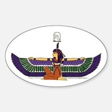 Isis Hieroglyph Oval Decal
