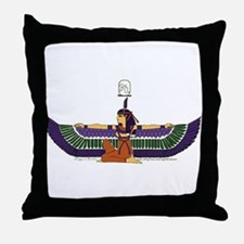 Isis Hieroglyph Throw Pillow