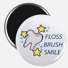 Floss Brush Smile Magnets