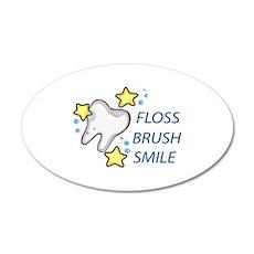 Floss Brush Smile Wall Decal