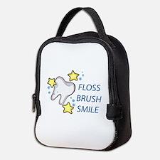 Floss Brush Smile Neoprene Lunch Bag
