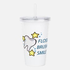 Floss Brush Smile Acrylic Double-wall Tumbler