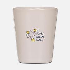 Floss Brush Smile Shot Glass