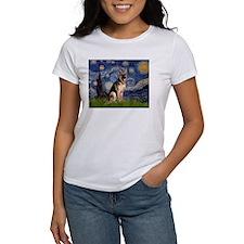 Starry Night & German Shepherd Tee