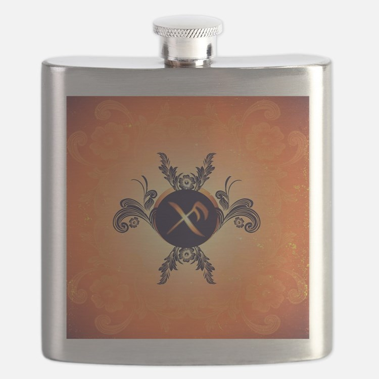Good luck rune, brings the wearer happiness Flask