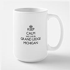 Keep calm we live in Grand Ledge Michigan Mugs