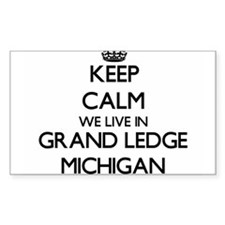Keep calm we live in Grand Ledge Michigan Decal