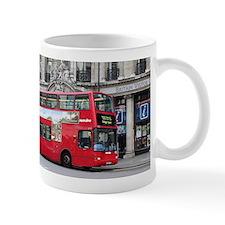 Red London Double Decker Bus, England Mugs
