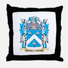 Mitchell Coat of Arms - Family Crest Throw Pillow