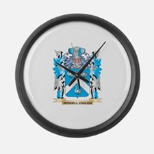 Mitchell Coat of Arms - Family Cr Large Wall Clock