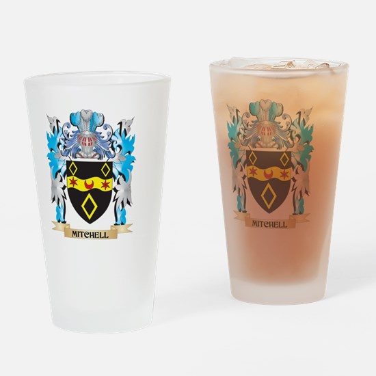 Mitchell Coat of Arms - Family Cres Drinking Glass