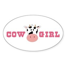 Cow Girl Decal