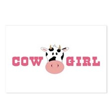 Cow Girl Postcards (Package of 8)
