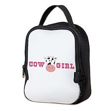 Cow Girl Neoprene Lunch Bag