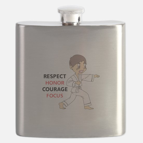 COURAGE HONOR RESPECT Flask