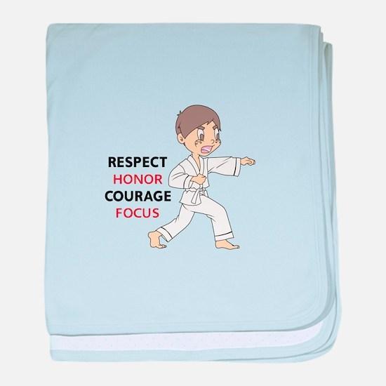 COURAGE HONOR RESPECT baby blanket