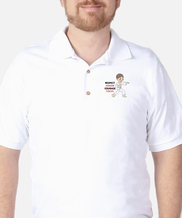 COURAGE HONOR RESPECT Golf Shirt
