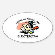 NOTHING SHOCKS ELECTRICIAN Decal