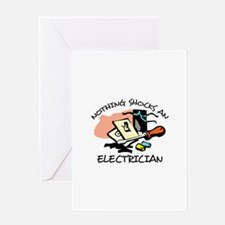 NOTHING SHOCKS ELECTRICIAN Greeting Cards
