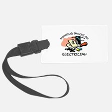 NOTHING SHOCKS ELECTRICIAN Luggage Tag