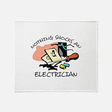 NOTHING SHOCKS ELECTRICIAN Throw Blanket
