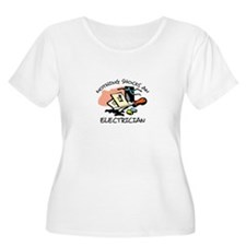 NOTHING SHOCKS ELECTRICIAN Plus Size T-Shirt