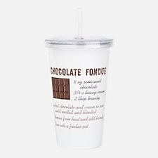 CHOCOLATE FONDUE Acrylic Double-wall Tumbler