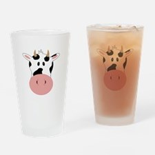 Cow Drinking Glass