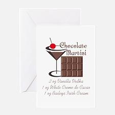CHOCOLATE MARTINI Greeting Cards